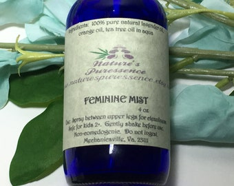 "Essential Oil Spray ""Feminine Mist"" Aromatherapy"