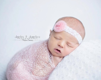 Lace stretch newborn wrap / photography wrap / photography props newborns baby / photography lace stretch wrap / lace baby swaddle / cocoon