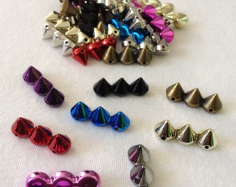Rivets studs spike punk rock style multicolor 21mm x 7mm for DIY ornament customization