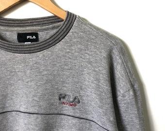 Vintage 90s Fila Intimo Script Logo Crewneck Jumper Sweatshirt LL Size