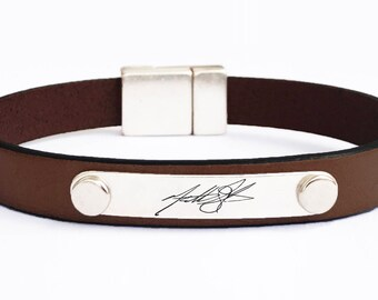 Memorial Gift In Memory of Sympathy Gift in Loving Memory Memorial Jewelry Remembrance Gifts Custom Leather Bracelet Engraved Male Bracelet
