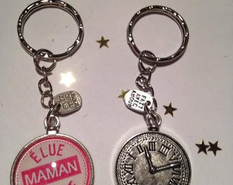 Keychain Cabochon glass Metal offered one mother of the year