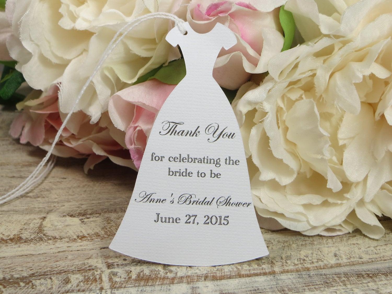 Wedding Gift Wording Ideas: Personalized Bridal Shower Favor Tags Custom Bachelorette