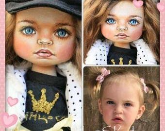 textile doll portrait doll, a doll with a portrait likeness, love the doll, the doll as a gift beautiful doll, textile doll, doll collection