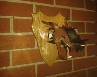Dragon tête trophée mural