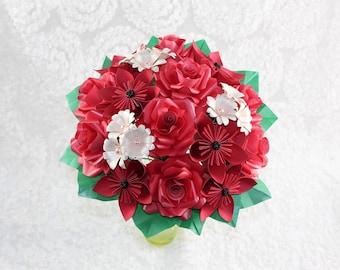 Paper flowers paper flower bouquets origami flowers paper origami flower wedding bouquets origami flowers paper flower wedding bouquets red paper flower mightylinksfo