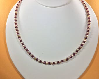 Bestseller SALE 30% , Ruby Necklace, Ruby and Pearls Gemstone Necklace  , gemstone Necklace , Birthstone Necklace ,   Birthstone necklace