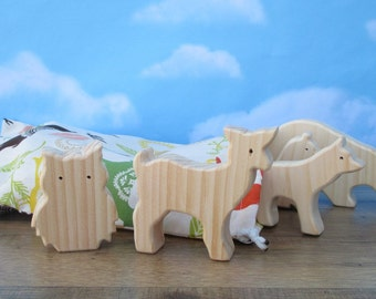 Wooden forest animal toys for kids - Wooden toy animals