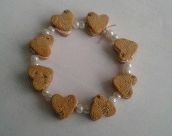 Heart-Shaped Chocolate Chip Cookie Bracelet