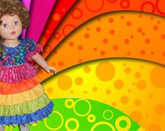 """Rainbow dress for 18"""" doll"""