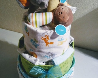 JUNGLE SAFARI ZOO Diaper Cake
