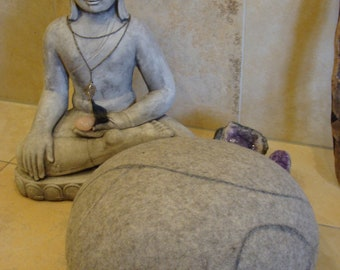 Yoga Pillow/Meditation pillow from grey mountain wool