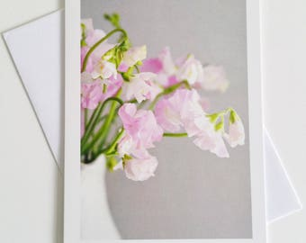 Sweet Peas - fine art photography greeting card