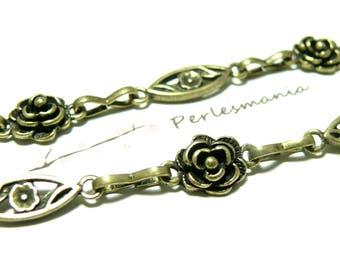Primer bijoux20 cm flower chain mesh and pink ref 201