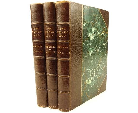 1857 Two Years Ago, Reverend Charles Kingsley. Macmillan. Fine binding. 1st ed.