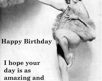 Marilyn monroe birthday card vintage birthday card funny tongue in cheek marilyn monroe marilyn fab birthday bookmarktalkfo Image collections