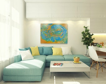 Meditation, oil, canvas, large wall art, abstract painting