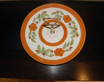 Stangl Serving Plate/Tid Bit with Handle