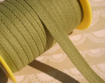 """OLIVE GREEN Twill Tape Trim - Sewing Bunting Shipping Packaging - 3/8"""" Wide - 10 Yards"""
