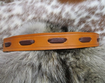 Leather Hat Band, Cowboy Hat Band, Laced Hat Band, Handmade Leather Hat Band with Deer Skin Lace and ties