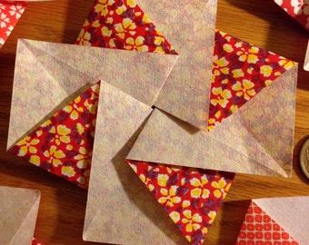 Tato etsy five japanese flower blossom tato origami envelopes or flat containers mightylinksfo Choice Image