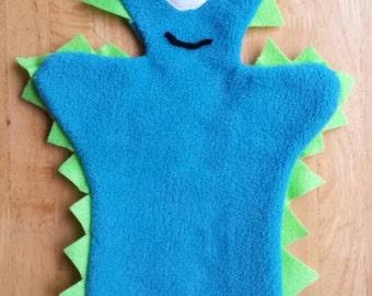 Teal Monster Hand Puppet