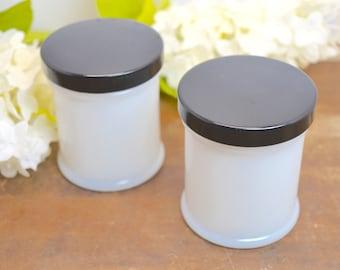 Cold Cream Jar, Milk Glass, Glass Jar, Vintage Milk Glass, Glass Jars, Cold Cream, Face Cream, Hazel Atlas, White Milk Glass, Vanity Jar