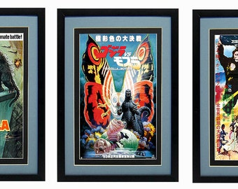 Godzilla Monster Movie Poster set Finest Quality Prints & Framing