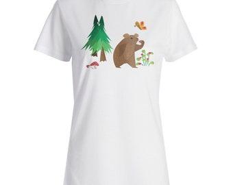 Bear in habitat Ladies T-shirt v963f