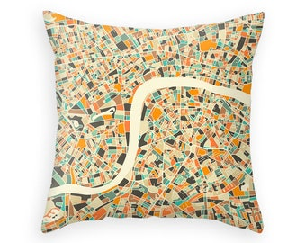 LONDON MAP Throw Pillow for your Home Décor