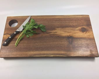 Live edge Walnut wood cutting board / Wood serving tray / cheese board with natural live edge Ready to Ship