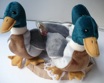 Stuffed Animal, Duck, Plushie, Farmhouse Decor, Nursery Decor, Lake House Decor, Cabin Decor, Housewarming Gift, Ty Beanie Babies