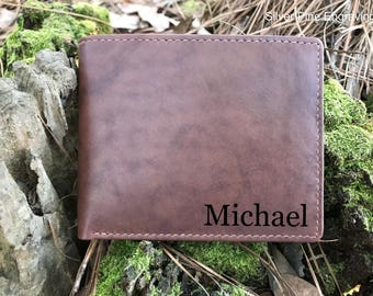Personalized Leather Wallet Father Of The Bride Wallet Genuine Leather Wallet Leather Gift For Him Anniversary Leather Wallet Husband Gift