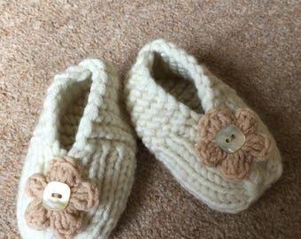 Baby Booties, Size 0-6 Months