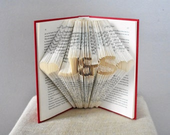 Folded Book Art, Unique Gift for Christmas
