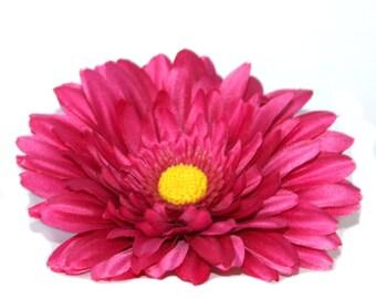 Bright Pink Silk Daisy - Artificial Flower Head, Silk Flower Heads