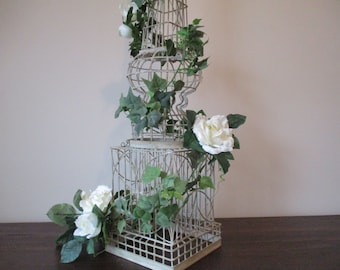 36' Ivory Wire Tower Stand Supply DIY Shabby Chic Vintage Looking Floral Arrangement Supplies #301