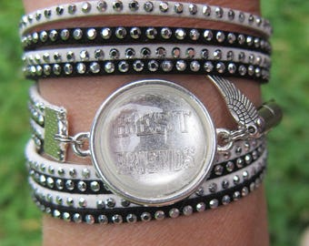bracelet cabochon strass à graver