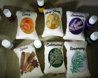 Essential Oils Sachets (set of six)