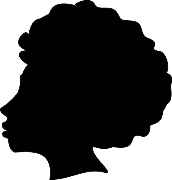 afro silhouette svg clip art afro natural hair png files rh etsy com natural black hair clipart free black natural hair clipart