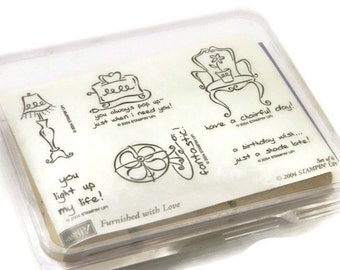 Stampin Up Stamps - Furnished With Love - Rubber Stamp Set - Funny Rubber Stamps - DIY Gift For Mom - Gifts For Wife - Stocking Filler