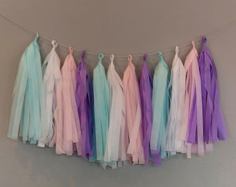 Unicorn Garland Tissue Tassels