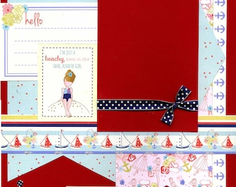 Beachy Girl - Premade Scrapbook Page