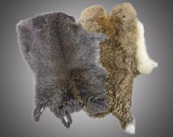 Genuine Rabbit Skin - Natural Fur