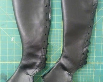 Basic Stage Boots: Full Calf, Straight Toe Cut