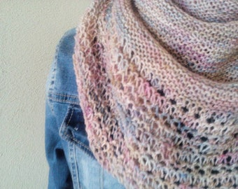 Sale Spring pastel colors handknit lace shawl/wrap/shoulderwarmer *ready to ship*
