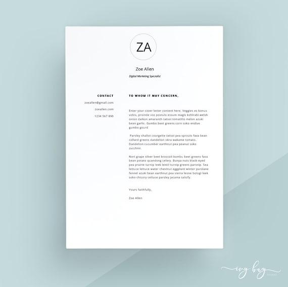 Modern Cover Letter Template Cover Letter Letterhead Word
