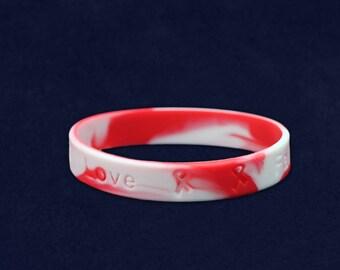 Red & White Silicone Bracelet (RE- SILB-22)