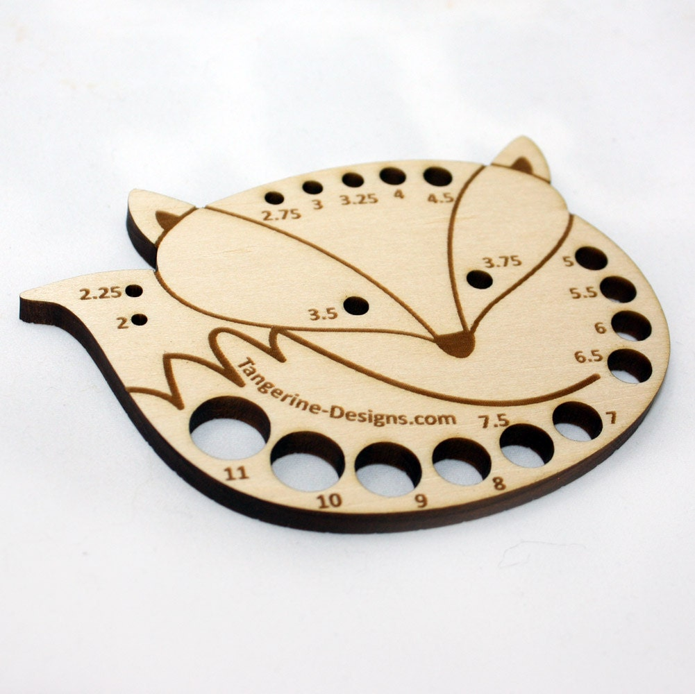 Metric fox knitting needle gauge laser cut wood sizes 2mm to zoom geenschuldenfo Choice Image