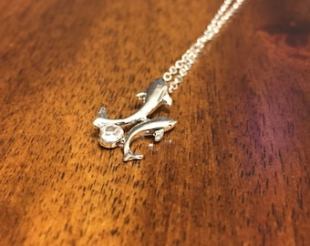 Dolphin Necklace - Dolphin Jewelry - Dolphin Charm - Dolphin Pendant - Dolphin - Dolphins - Florida - Florida Necklace - Dolphin Gift - FL